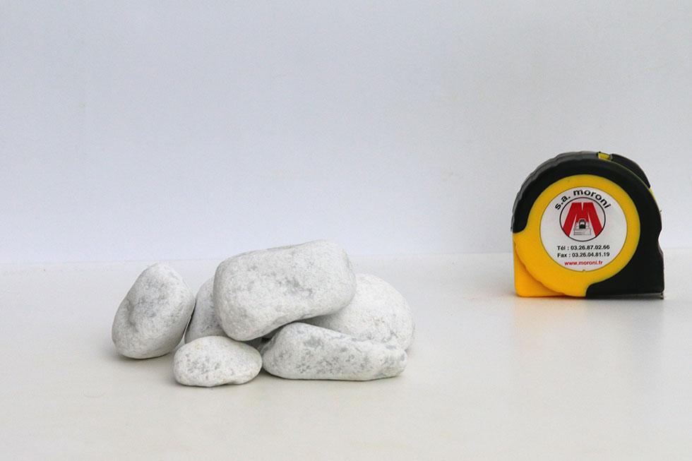 Gravillon Marbre de carrare blanc 40/60 Roulé