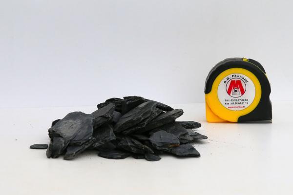 Paillettes d'ardoise noir 10/20 et 10/50