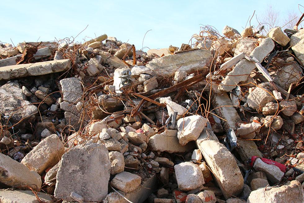 Granulats de démolition
